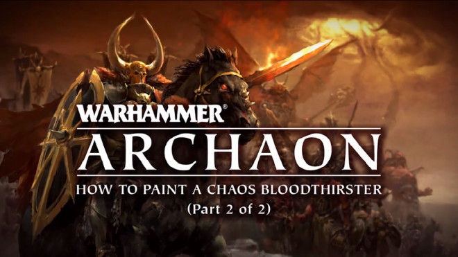 Games Workshop Painting Tutorial: How To Paint A Bloodthirster Part Two
