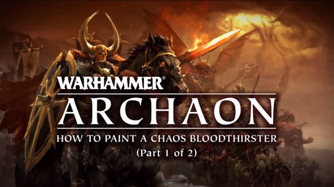 Games Workshop Painting Tutorial: How To Paint A Bloodthirster Part One