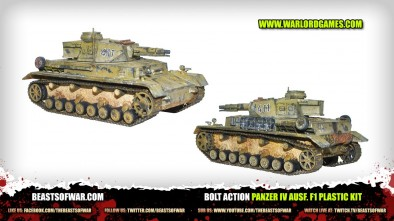 Bolt Action Panzer IV Ausf. F1 Plastic Kit