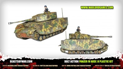 Bolt Action Panzer IV Ausf. H Plastic Kit