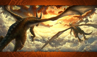 dragons flying mat