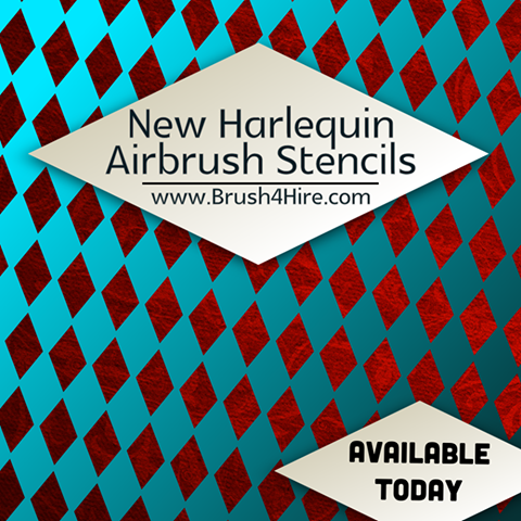 Paint With Ease With Harlequin Airbrush Stencils From Brush