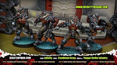 Game: Infinity Army: Combined Army Model(s): Yaogat Strike Infantry