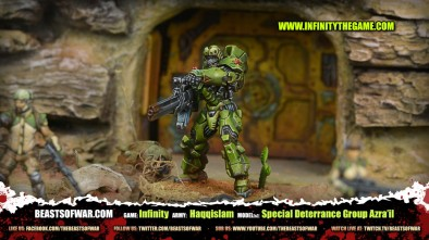 Game: Infinity Army: Haqqislam Model(s): Special Deterrance Group Azra'il