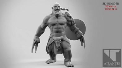 Orc with Fighting Claws