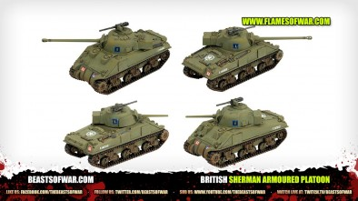 Unboxing: Flames of War Sherman Armoured Platoon