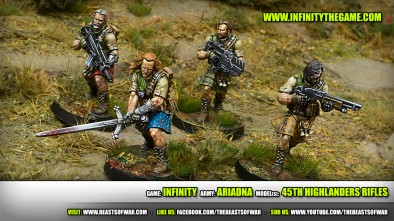 New Infinity For April: 45th Highlanders Rifles