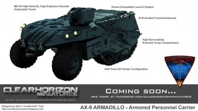 AX-9 Armadillo Armored Personnel Carrier (Stats)