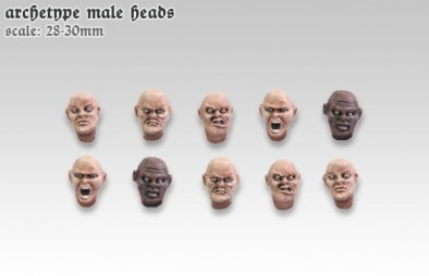 Archetypal Male Heads