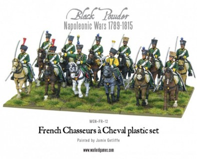 Napoleonic French Chasseurs à Cheval (Plastic)