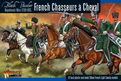 Napoleonic French Chasseurs à Cheval (Plastic Box)