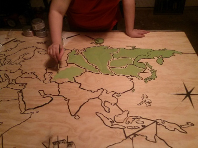 Risk Painting the Map