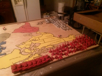 Risk War Room Armies on Map