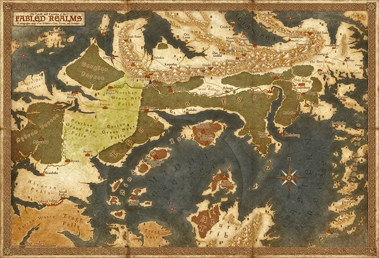 The Fabled Realms Map