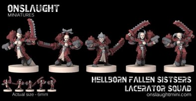 Hellborn Fallen Sisters Lacerator Squad