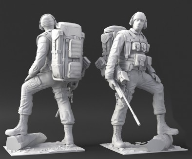 US sniper front and back