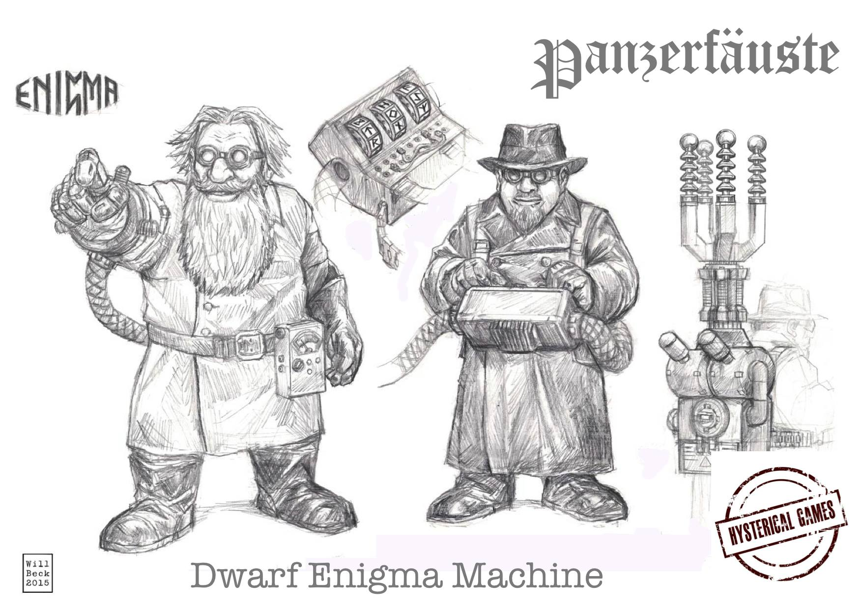 hysterical games show off the dwarven enigma machine
