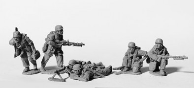 German Fallschrimjager MG34 Troops