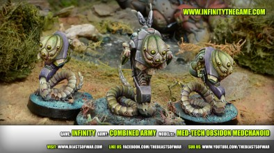 Game: Infinity Army: Combined Army Model(s): Med-Tech Obsidon Medchanoid