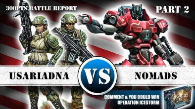USAriadna Vs Nomads 300pts Infinity Battle Report