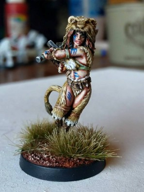 dgs lioness painted
