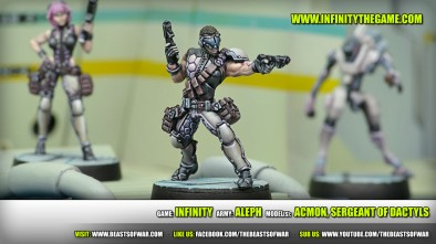 Game: Infinity Army: ALEPH Model(s): ACMON, Sergeant of Dactyls