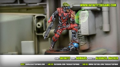 Game: Infinity Army: Nomads Model(s): Alguacil, hacker
