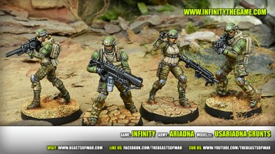 Game: Infinity Army: Ariadna Model(s): USAriadna Grunts