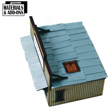 Corrugated Sheets On Building