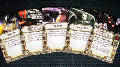 Fantasy Flight X-Wing Force Awakens DROID CARDS