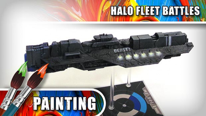 3CU: How To Paint Halo Fleet Battles – UNSC Epoch-Class Heavy Carrier Part Two
