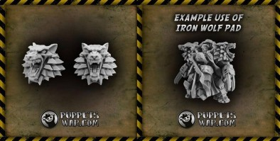 PW wolf shoulder pads