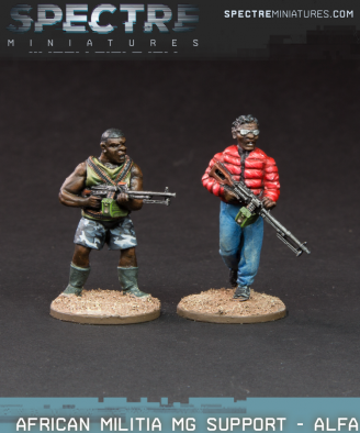 African Militia MG Support
