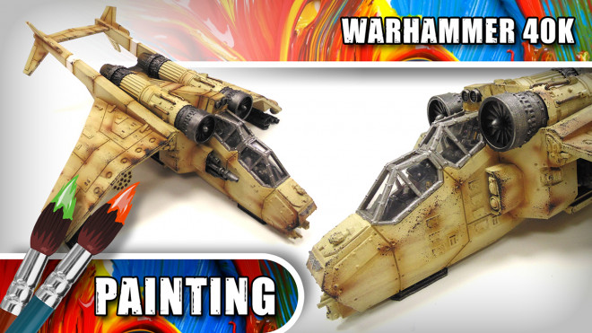 3 Colours Up: Weathering A Warhammer 40K Valkyrie