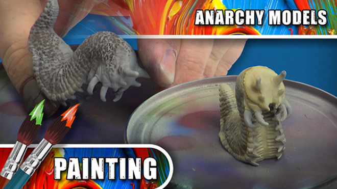 Anarchy Models – Airbrushing Using Creature Feature Mottled Effects