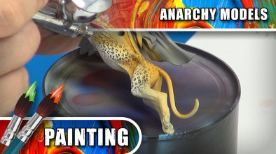 Anarchy Models - Airbrushing Using The Creature Feature Leopard Stencils