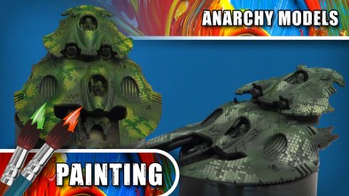 Anarchy Models - Airbrushing With New Snake Skin Stencils