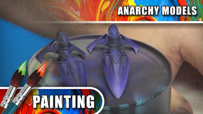 Anarchy Models – Airbrushing With The Dragon Scale Stencils