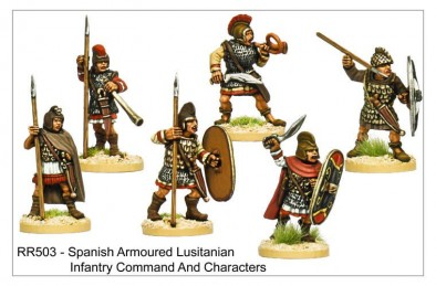 Armoured Lusitanian Command and Characters