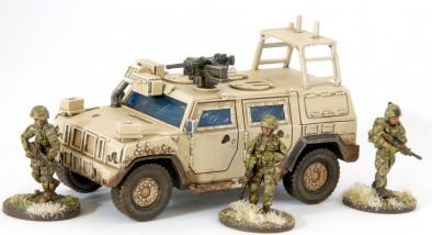 British Army FES Panther (With Infantry)