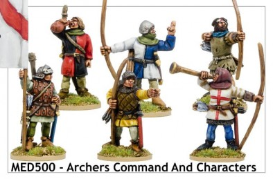 Medieval Archers Command and Characters