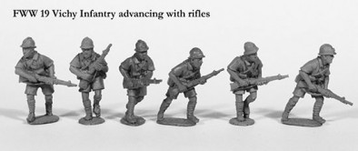 Vichy Infantry Advancing