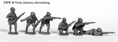 Vichy Infantry Skirmishing