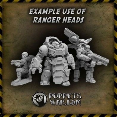 Ranger Heads (With Bodies)