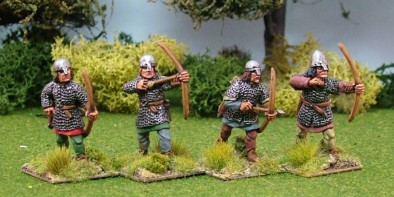 Archers Wearing Mail With Nasal Bar helmets