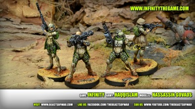Game: Infinity Army: CombineGame: Infinity Army: Haqqislam Model(s): Hassassin Govadsd Army Model(s): Oznat, Morat Hunting Reg.