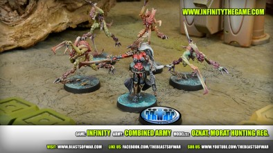 Game: Infinity Army: Combined Army Model(s): Oznat, Morat Hunting Reg.