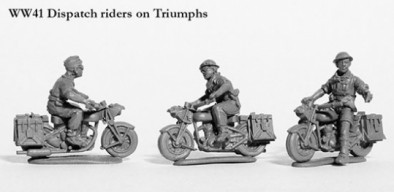 Dispatch Riders On Triumphs