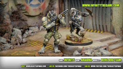 Game: Infinity Army: Ariadna Model(s): Devil Dog Team