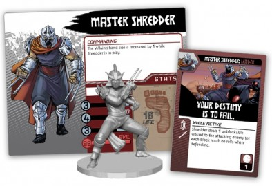 Master Shredder Villain Card